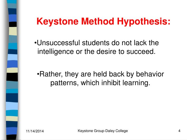 Keystone Method Hypothesis: