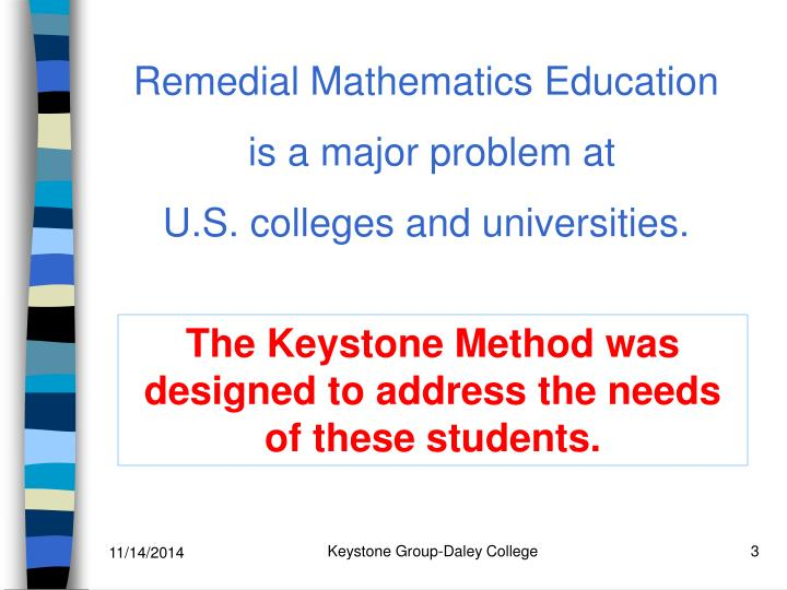 Remedial Mathematics Education