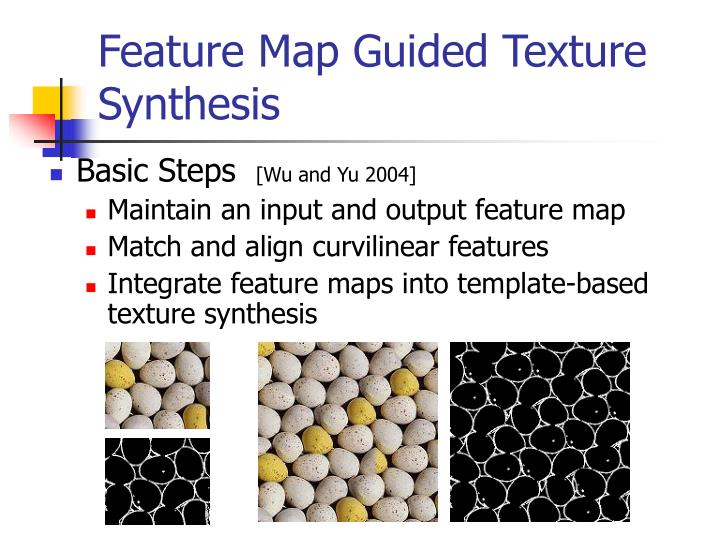 Feature Map Guided Texture Synthesis