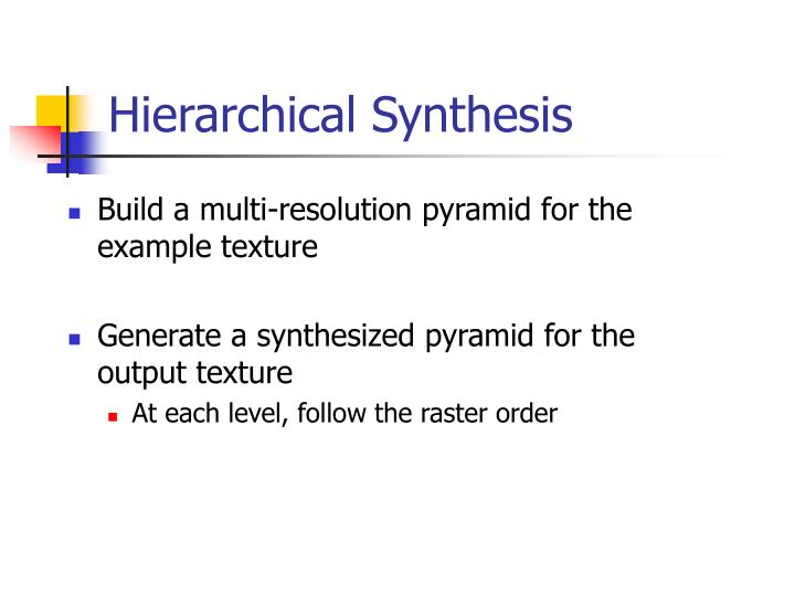 Hierarchical Synthesis
