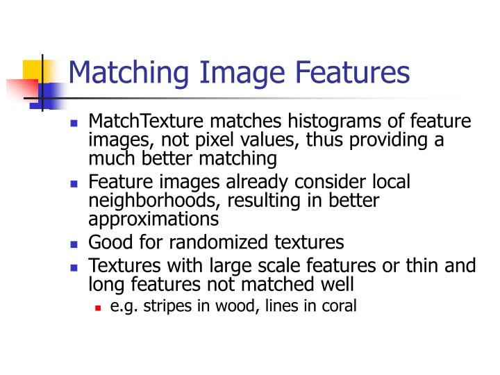 Matching Image Features