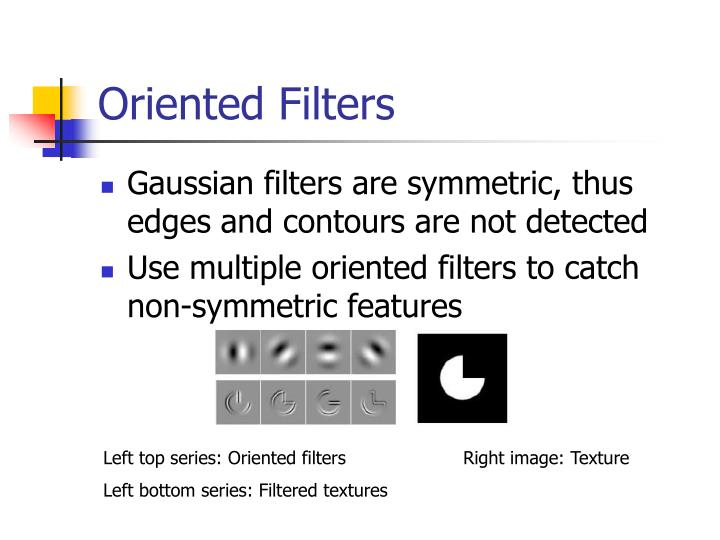Oriented Filters
