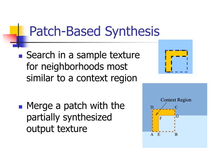 Patch-Based Synthesis