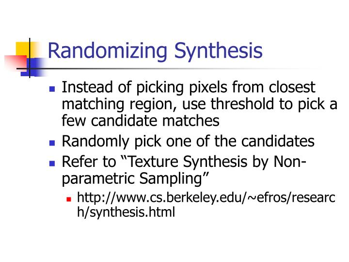 Randomizing Synthesis