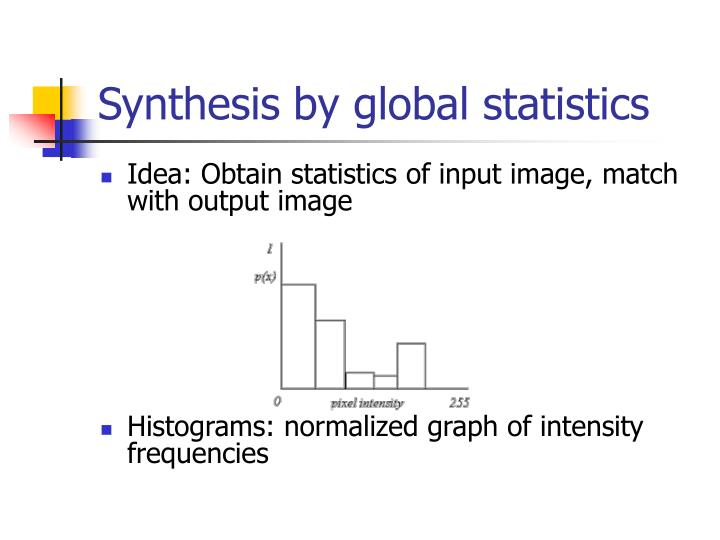 Synthesis by global statistics