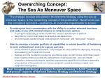 overarching concept the sea as maneuver space