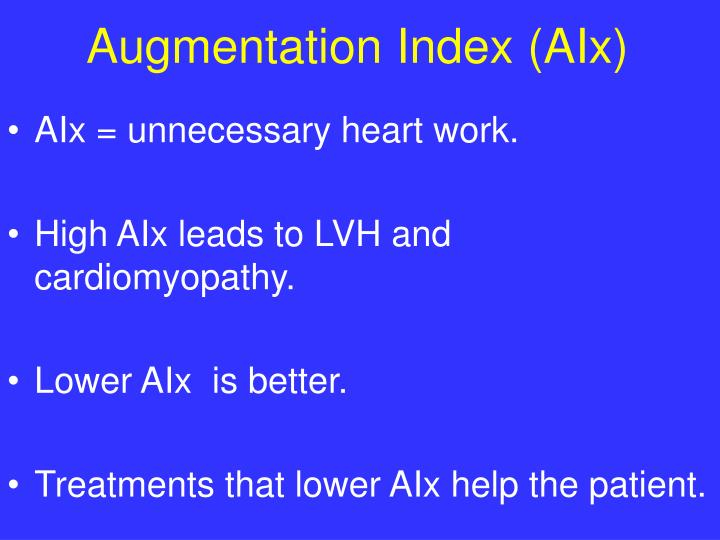 Augmentation Index (AIx)