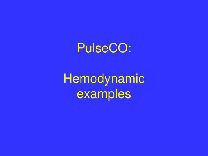 PulseCO: