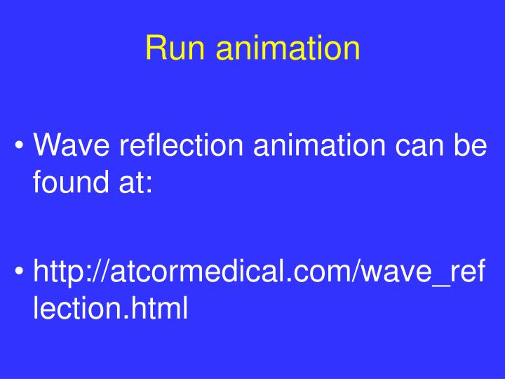Run animation