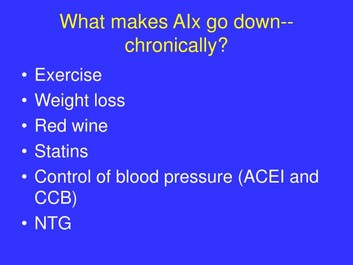 What makes AIx go down-- chronically?