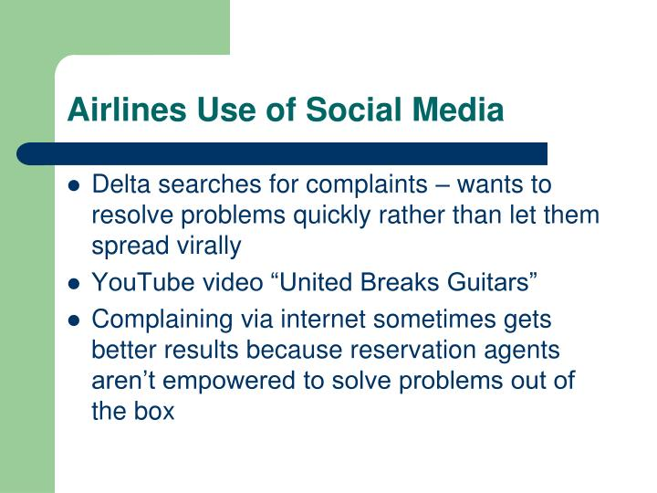 Airlines Use of Social Media