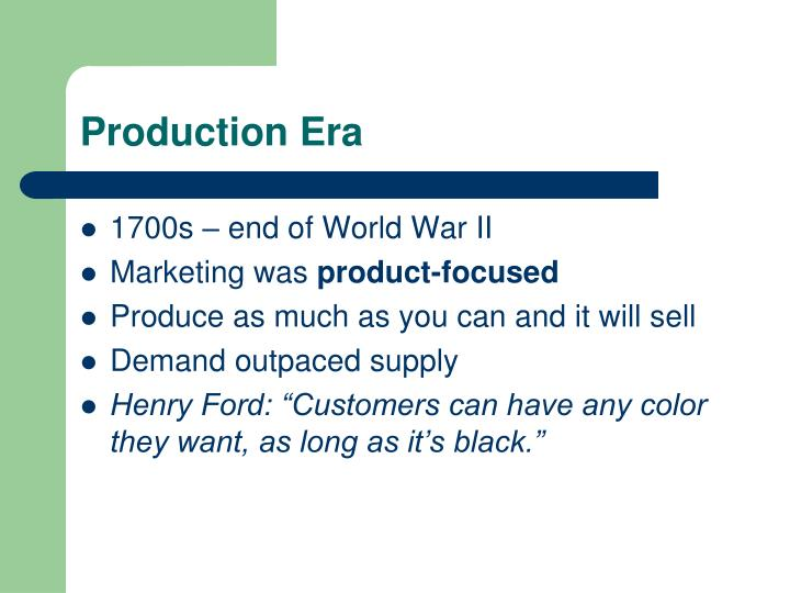 Production Era