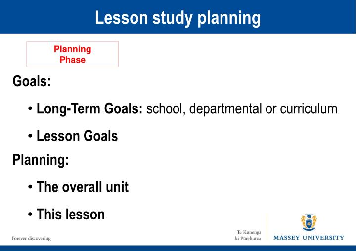 Lesson study planning