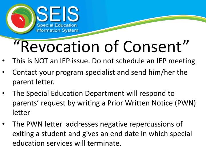 """Revocation of Consent"""