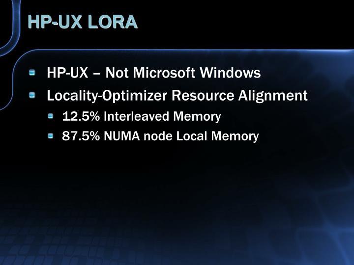 HP-UX LORA