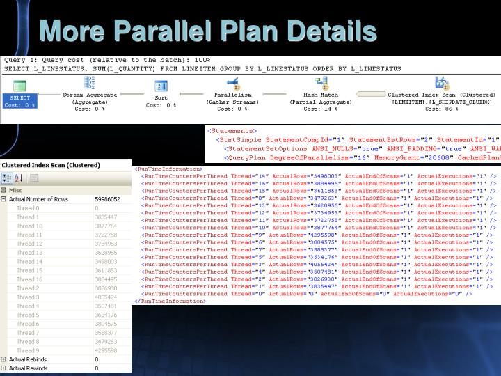 More Parallel Plan Details