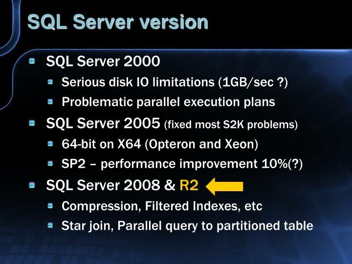 SQL Server version