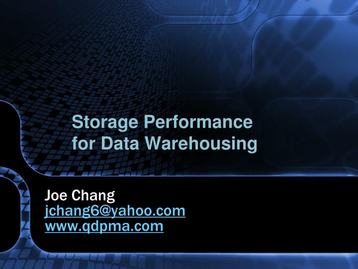 Storage Performance
