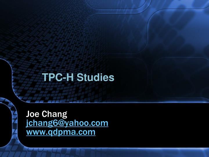 TPC-H Studies