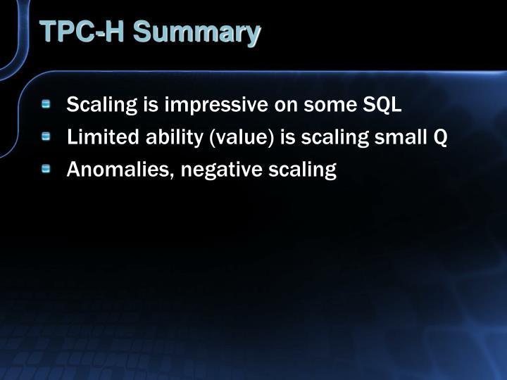 TPC-H Summary