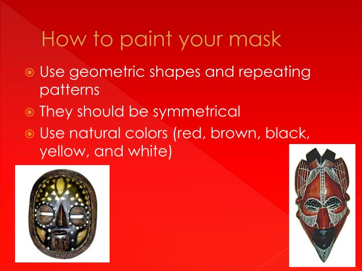 How to paint your mask