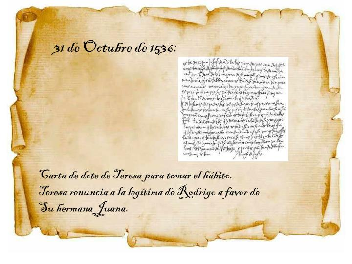 31 de Octubre de 1536: