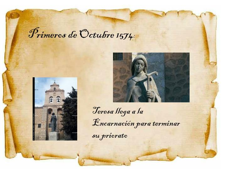 Primeros de Octubre 1574