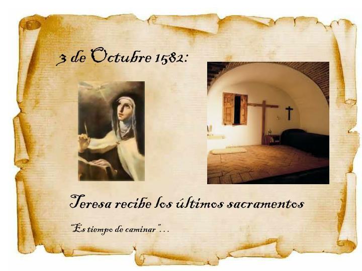 3 de Octubre 1582: