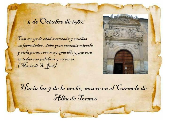4 de Octubre de 1582:
