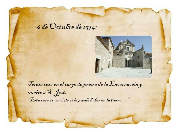 6 de Octubre de 1574: