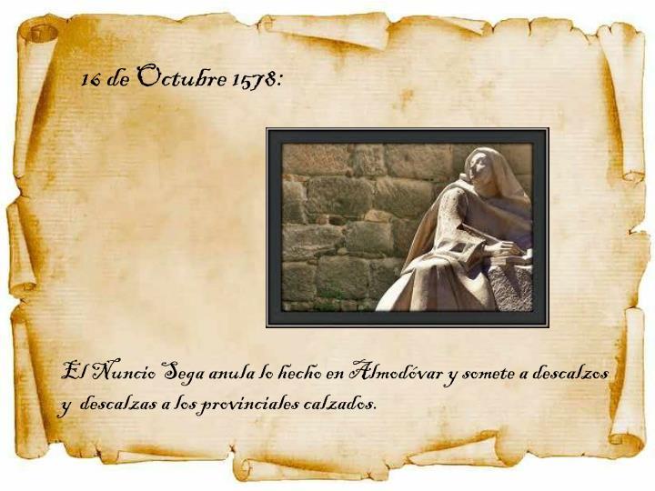 16 de Octubre 1578:
