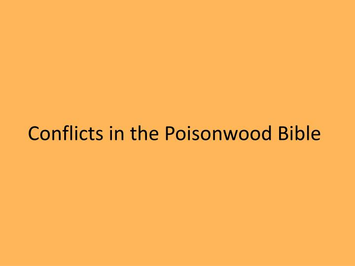 Conflicts in the Poisonwood Bible