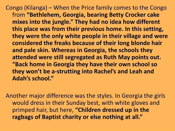 Congo (Kilanga) – When the Price family comes to the Congo from