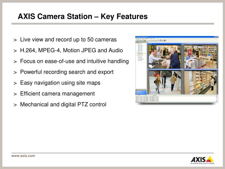 AXIS Camera Station – Key Features