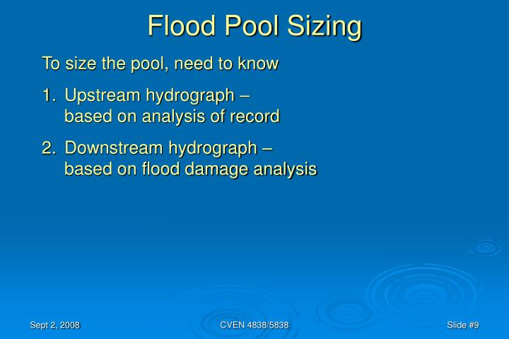 Flood Pool Sizing