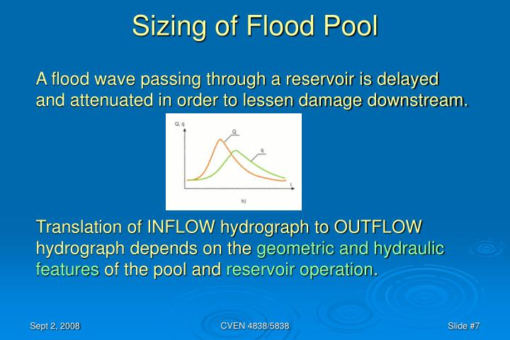 Sizing of Flood Pool