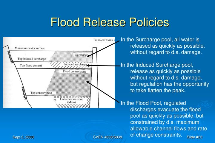 Flood Release Policies