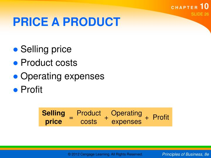 PRICE A PRODUCT