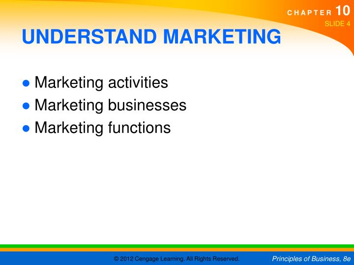 UNDERSTAND MARKETING