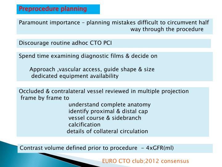 Preprocedure