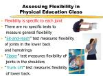assessing flexibility in physical education class