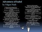 adventures of isabel by odgen nash