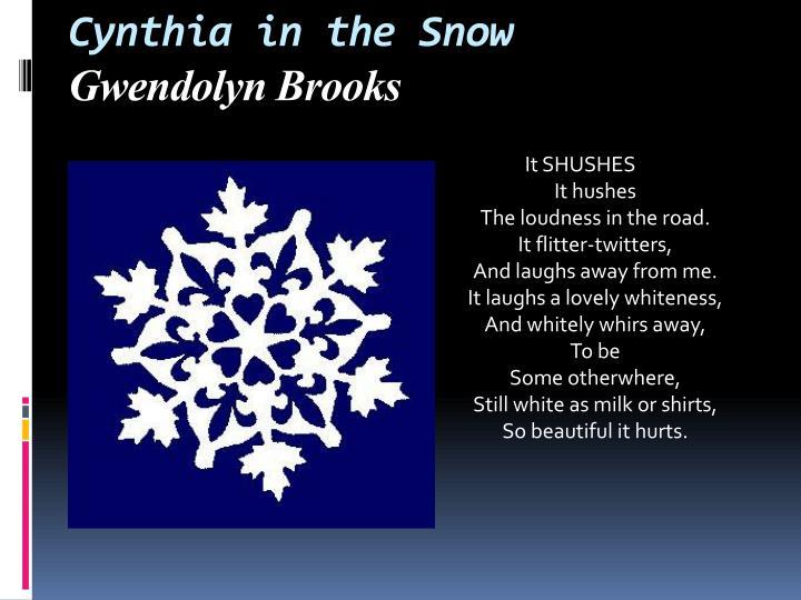 Cynthia in the Snow