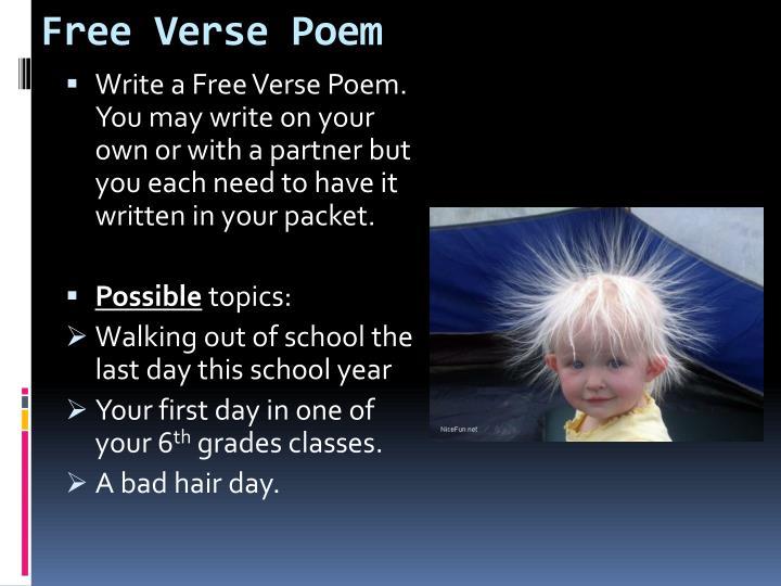 Free Verse Poem