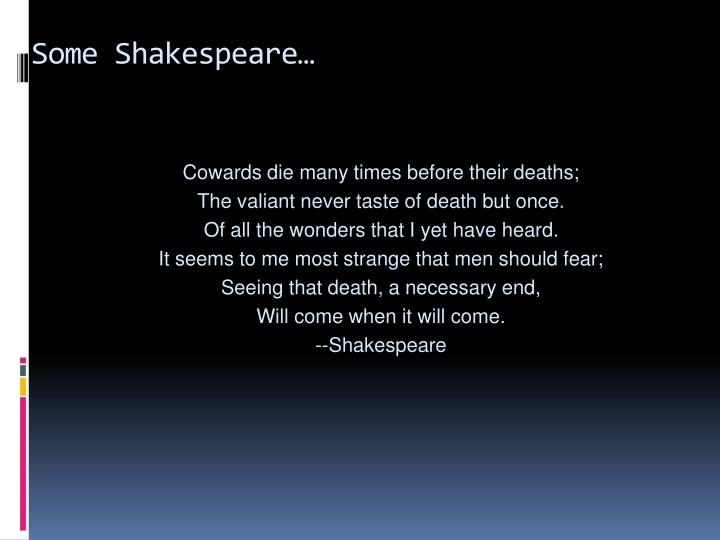 Some Shakespeare…