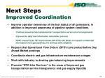 next steps improved coordination