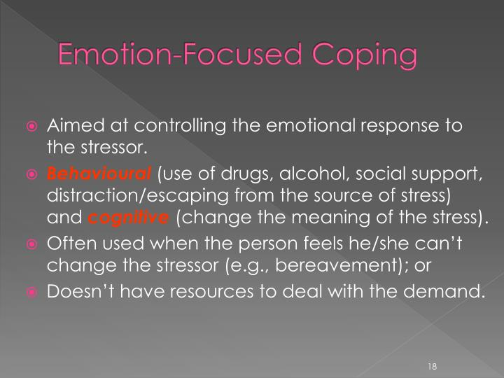 Emotion-Focused Coping