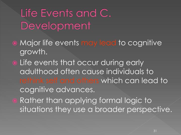Life Events and C. Development