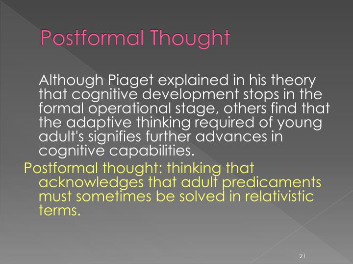 Postformal Thought