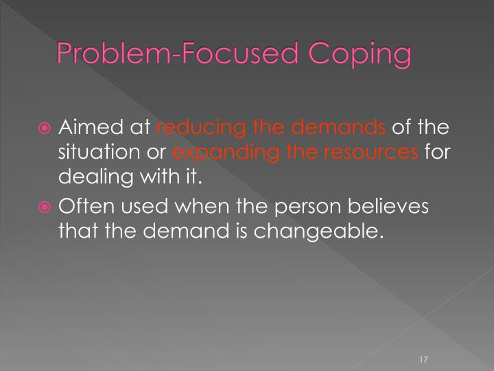Problem-Focused Coping